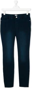Armani Junior slim fit trousers