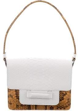 Valextra Snakeskin Shoulder Bag