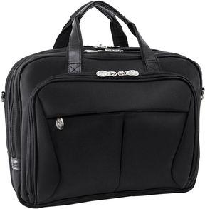 McKlein McKleinUSA Pearson 17 Nylon Expandable Double Compartment Laptop Briefcase