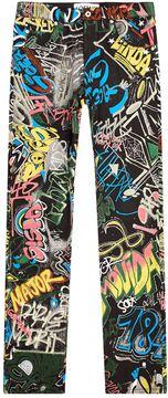 Loewe Graffiti Print Jeans