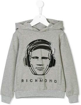 John Richmond Kids Richmond print hoodie