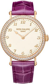 Patek Philippe Calatrava Automatic Gold Diamond Ladies Watch