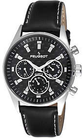 Peugeot Men's Carbon Fiber Dial Black Watch