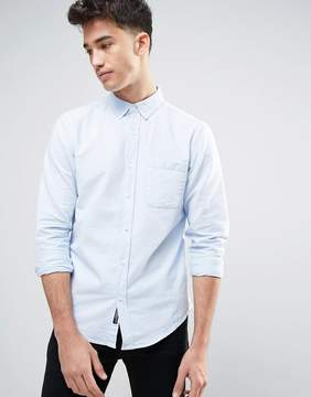 Pull&Bear Oxford Shirt In Sky Blue In Regular Fit