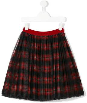 Dolce & Gabbana tulle checked skirt