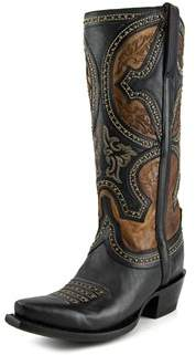 Lucchese M4862 Women Pointed Toe Leather Brown Western Boot.