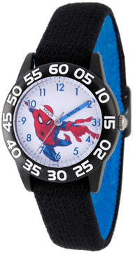 Marvel Spiderman Boys Black Strap Watch-Wma000176