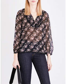 Claudie Pierlot Balkan floral-print chiffon blouse