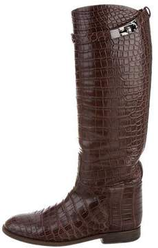 Hermes Alligator Jumping Boots