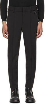 Neil Barrett Black Grosgrain Side Band Ski Trousers