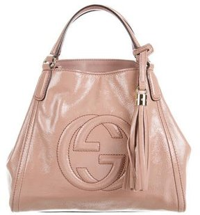 Gucci Patent Soho Top Handle Bag - PINK - STYLE