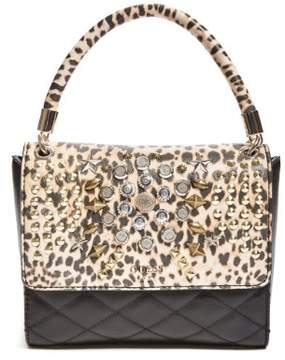 GUESS Leo Studded Top Handle Flap Bag