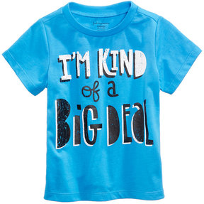 First Impressions Big Deal-Print Cotton T-Shirt, Baby Boys (0-24 months), Created for Macy's