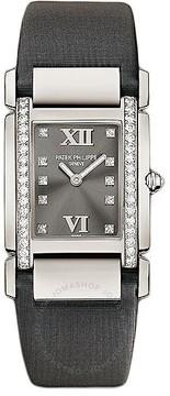 Patek Philippe Twenty~4 Medium Eternal Gray Dial 18 Carat White Gold Ladies Watch
