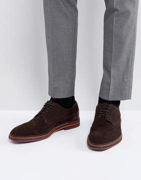 Ted Baker Gourduns Suede Brogue Shoes In Brown