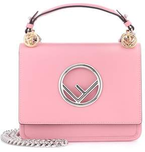 Fendi Exclusive to mytheresa.com – Kan I F Mini leather shoulder bag