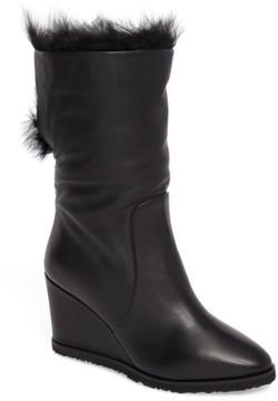Taryn Rose Women's Massima Genuine Shearling Wedge Boot