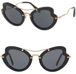 Miu Miu 52MM Curved Cat Eye Sunglasses