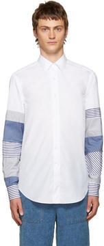 Loewe White Patchwork Sleeve Shirt