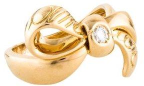 Christian Dior 18K Diamond Bow Ring