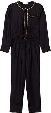 Chloé Black and Gold Twill Embroidered Jumpsuit