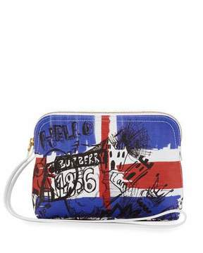 Burberry Union Jack Sketchbook Series Pouch Bag - MULTI PATTERN - STYLE