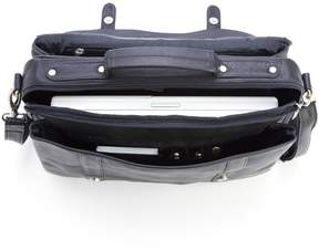 Royce Leather Black Litigator Triple Compartment Brief