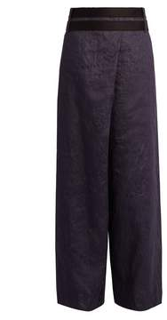 Amanda Wakeley Echo wide-leg denim trousers