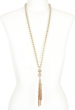Anna & Ava Sue Chain-Tassel Necklace