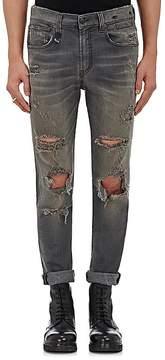 R 13 Men's Skate Distressed Skinny Jeans
