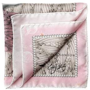 Aspinal of London Pegasus Silk Twill Pocket Square In Rose
