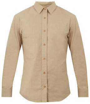 Lemaire Point-collar brushed-cotton shirt