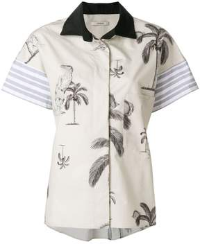 Odeeh palm print board shirt