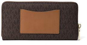 MICHAEL Michael Kors Mercer Logo Twill Continental Wallet with Pocket
