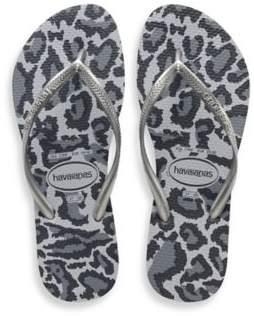 Havaianas Size 11/12 Slim Animals Women's Sandal in Ice Grey
