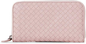 Bottega Veneta Lavender Intrecciato Zip-Around Wallet