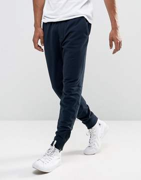 Abercrombie & Fitch Zip Hem Joggers Black Label Tapered Fit in Navy