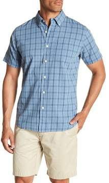 Grayers Short Sleeve Plaid Print Regular Fit Woven Shirt