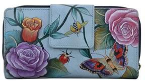 Anuschka Hand Painted Leather| Women's Organizer Clutch Wallet |