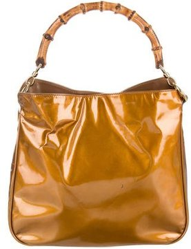 Gucci Vintage Patent Diana Bag - GOLD - STYLE