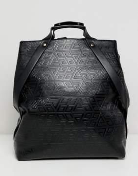 Asos DESIGN embossed top handle backpack