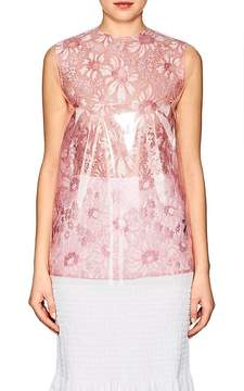 Calvin Klein Women's Plastic-Layered Lace Top