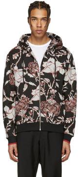 McQ Black Floral Clean Hoodie