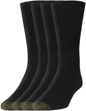 Gold Toe GOLDTOE Men's GOLDTOE 3-pack + 1 Bonus Crew Socks