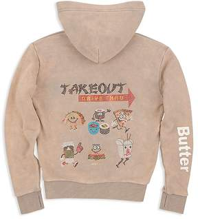 Butter Shoes Girls' Takeout Appliqué Hoodie - Big Kid