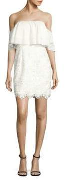 Aidan Mattox Popover Lace Cocktail Dress