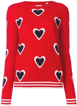 Chinti and Parker All Over Heart Sweater