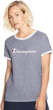 Champion Women's Heritage Ringer Graphic Tee