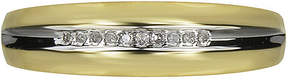 JCPenney MODERN BRIDE Mens Diamond-Accent 10K Yellow Gold Wedding Band