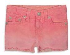 True Religion Little Girl's & Girl's Bobby Super Faded Shorts
